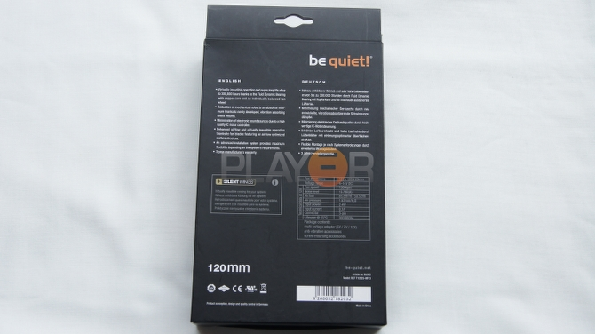 Be Quiet Silent Wings 2 120mm Box Back