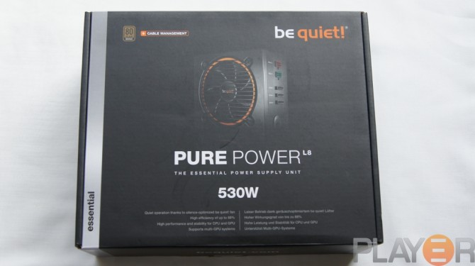 Be Quiet Pure Power L8 530W Box Front