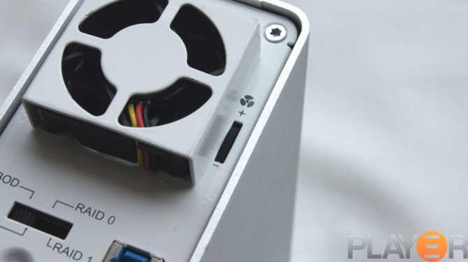 Icy Dock MB662U3-2S Fan Speed Dial