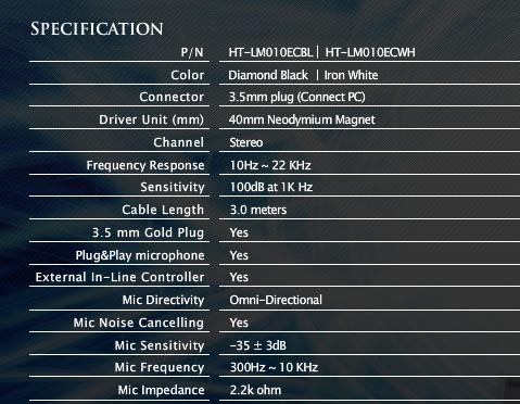 Thermaltake level 10m headset specs