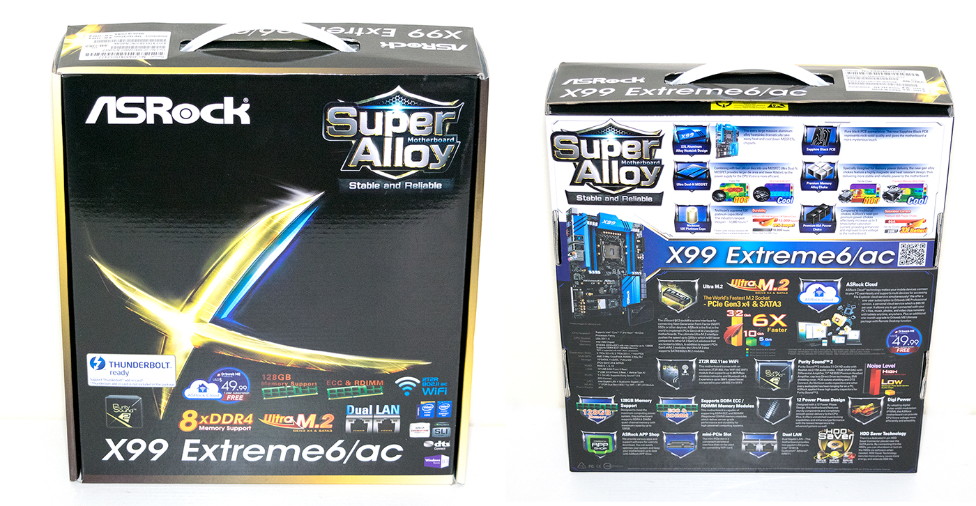 ASRock X99 Extreme6 box