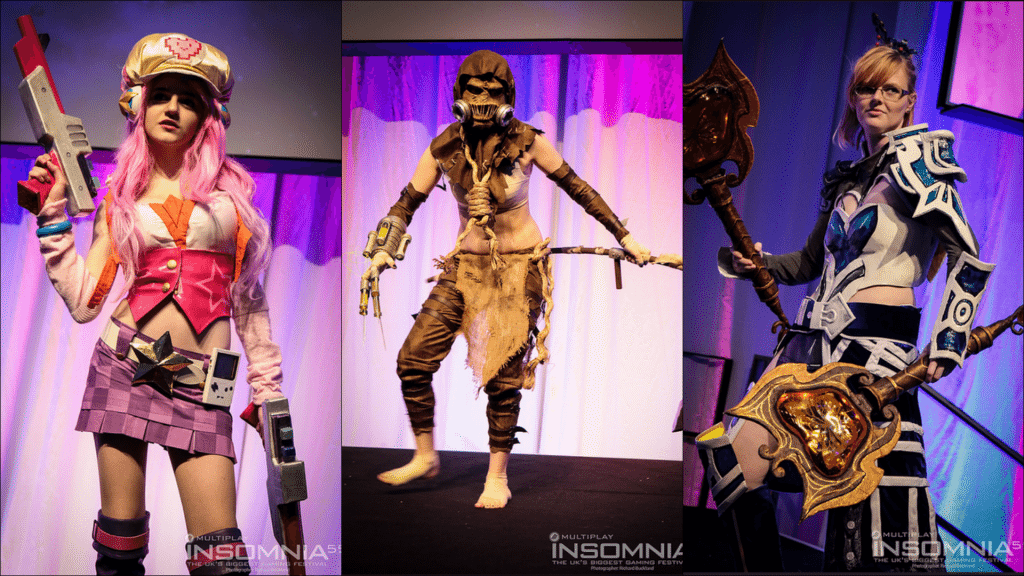 From left to right: 1st place Arcade Miss Fortune, 2nd place Scarecrow from batman, 3rd place Guild wars 2 cosplay.
