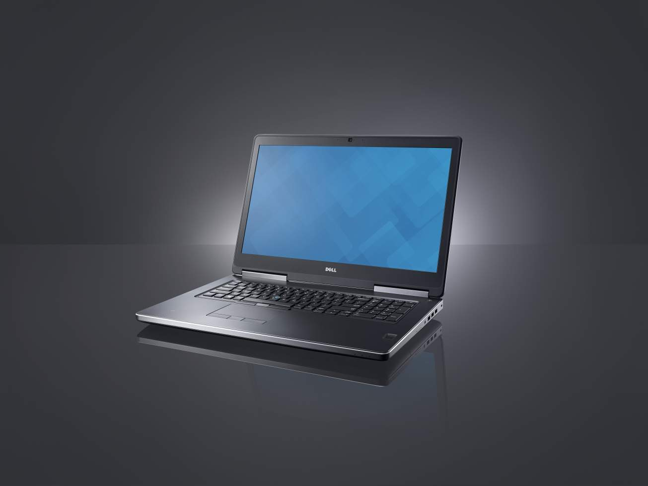 Beauty shot of a Dell Precision 7710 Non-Touch (codename Miramar) mobile workstation.