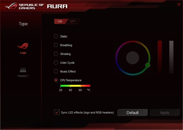 ASUS AURA Software