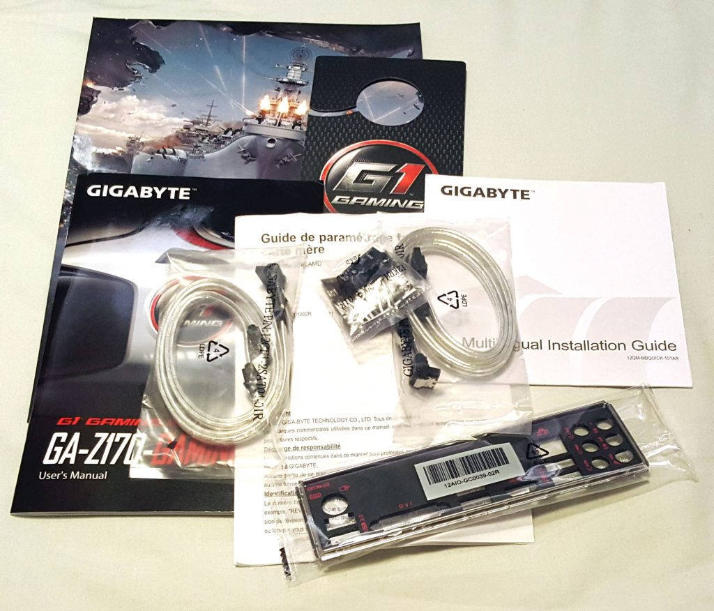 GIGABYTE Z170-Gaming K3 - Accessories