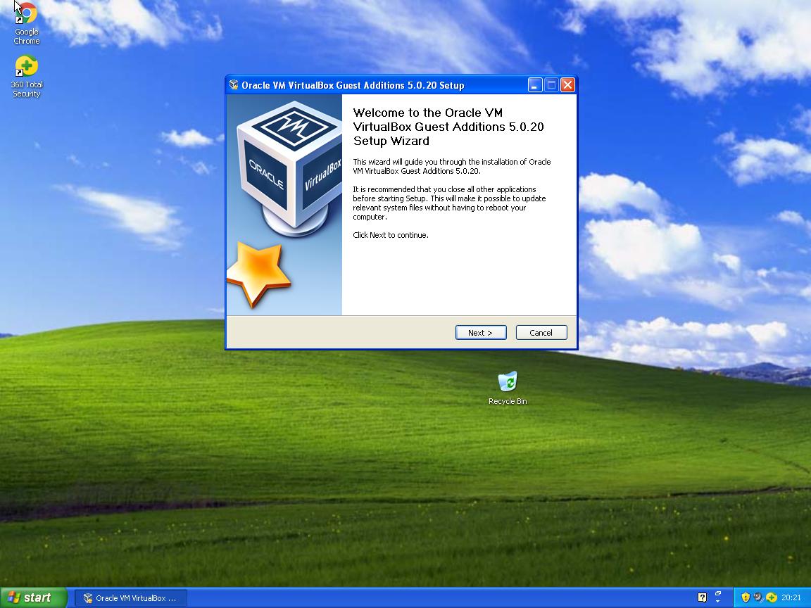 windows xp machine for windows 10