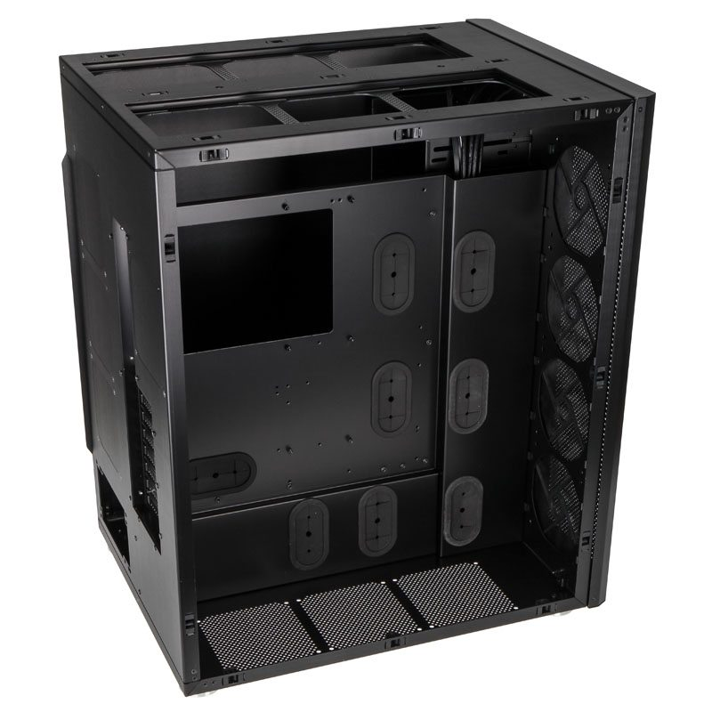 Image of the internal space of the new 8Pack Lian Li PCD888WX Chassis