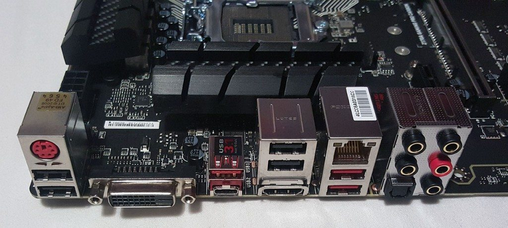 MSI Z170A GAMING PRO CARBON - IO